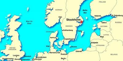 Stockholm Hartă Hărți Stockholm Sodermanland și Uppland Suedia